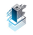 database server isometric storage information vector image