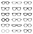 different eyeglasses vector image vector image