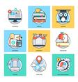 Flat Color Line Design Concepts Icons 26 vector image