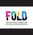folded style colorful font vector image vector image