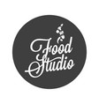 food studio vintage avatar on white background vector image vector image