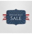 fourth july sale realistic emblem vector image vector image