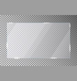 glass plate on transparent background acrylic or vector image vector image