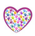 Hands of love logo vector image vector image
