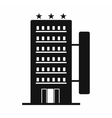 Hotel building black simple icon vector image vector image