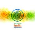 india happy republic day creative background vector image vector image