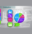 industry infographics production process vector image