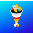 internet funnel analytics concept vector image vector image