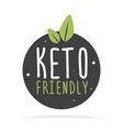 keto friendly hand drawn lettering flat healthy vector image vector image