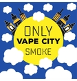 logo electronic cigarette vaping vector image