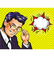male business coach or school teacher in glasses vector image vector image