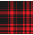 Menzies tartan black red kilt skirt fabric texture vector image