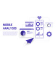 mobile data analysis research planning statistics vector image vector image