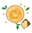 national food of israel - hummus vector image