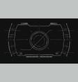 navigation system hud interface design vector image
