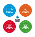 Notebook laptop pc icons Repair fix service vector image vector image
