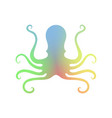 octopus icon isolated stilized logo design sea vector image vector image