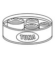 open tuna can icon outline style vector image vector image