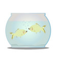 pet goldfish bowl vector image
