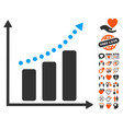 positive trend icon with love bonus vector image vector image