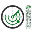 Radar Icon With Bonus vector image