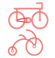 red bicycle symbol vector image vector image