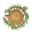 rosemary tea vector image