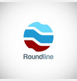 round line shape technology logo vector image vector image