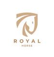 royal horse logo emblem vector image vector image