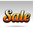 Sale Title for Labels on Light Background vector image vector image