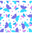 seamless pattern with butterfly ornament vector image vector image
