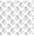 seamless pattern with human hands vector image vector image