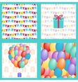 set birthday seamless vector image vector image