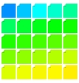 Set of colorful labels with folded corner vector image vector image