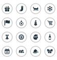 set simple christmas icons vector image