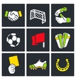 Soccer color icon collection vector image vector image