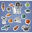 space stickers set vector image vector image