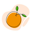 sweet orange with abstract shapes vector image