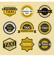 Taxi insignia - vintage style vector image vector image