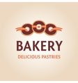 Template logo for the bakery vector image vector image