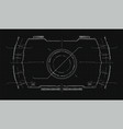 the navigation system hud interface design vector image vector image