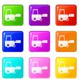 truck to lift cargo set 9 vector image vector image