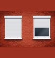 white roller shutters on window vector image vector image
