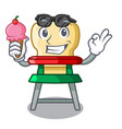 with ice cream cartoon baby highchair for kids vector image