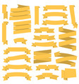 yellow ribbons set vector image