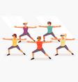 yoga in virtual glasses vector image vector image