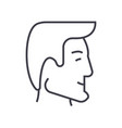 human head businessman avatar line icon vector image