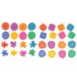 floral element prints vector image