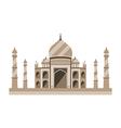 Taj Mahal flat style Ancient Palace in India vector image