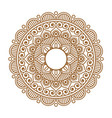 indian henna mehendi ornament vector image